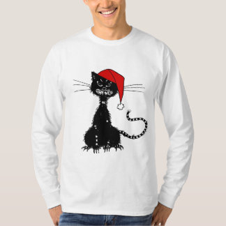 T-shirt Chat noir de Noël