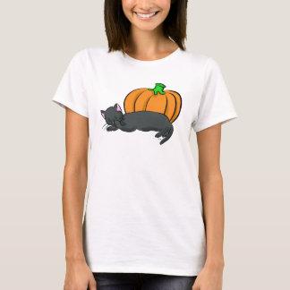 T-shirt Chat noir et citrouille