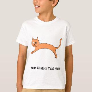 T-shirt Chat orange sautant