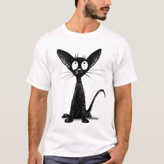 T-shirt Chat oriental noir drôle