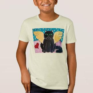 T-Shirt Chat pelucheux d'ange