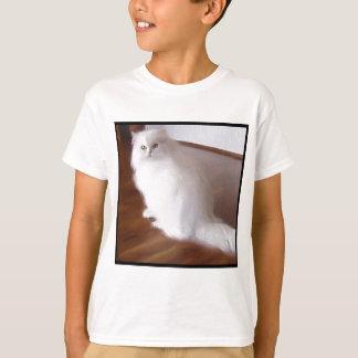 T-shirt Chat persan blanc