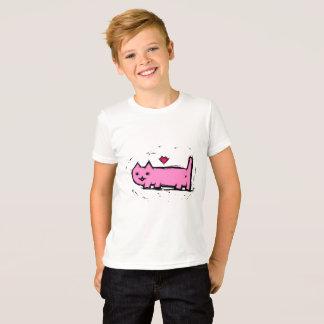 T-shirt Chat rayé