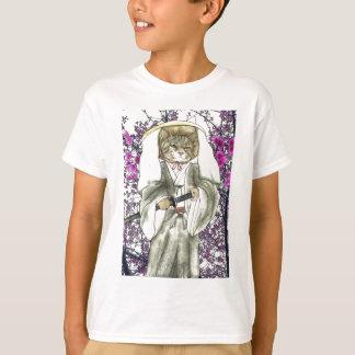 T-shirt Chat samouraï avec Sakura