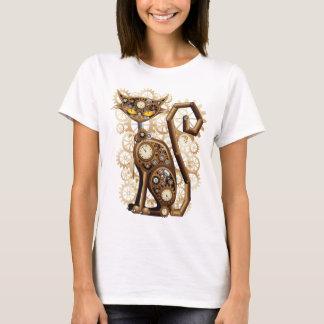 T-shirt Chat surréaliste élégant de Steampunk