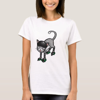 T-shirt Chat tigré argenté sur RollerSkates