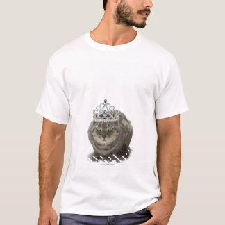 T-shirt Chat utilisant un diadème