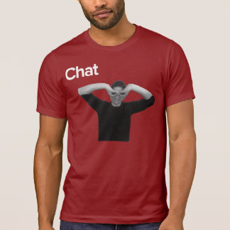 T-shirt Chatception pur