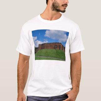 T-shirt Château montrant la tour de demi-lune, Chester,