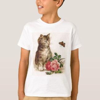 T-shirt Chaton et papillon