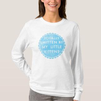 T-shirt chatons frappés bleus