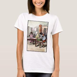 T-shirt Chatons lavant leurs mitaines