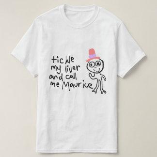 T-shirt Chatouillez mon foie et appelez-moi pièce en t de