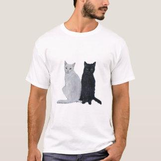 T-shirt Chats blancs et noirs