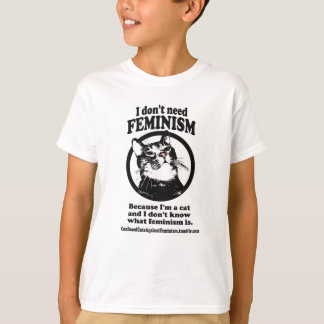 T-shirt Chats confus (bonbon dans une conception de