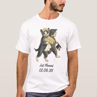 T-shirt Chats de mariage - juste personnaliser mariée