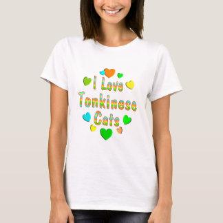 T-shirt Chats de Tonkinese d'amour