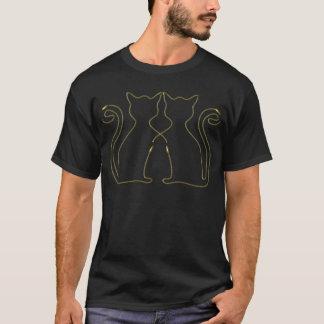 T-shirt Chats d'or de fermeture éclair dans l'amour