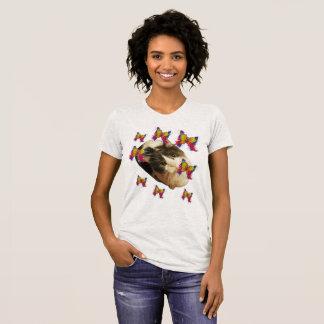 T-shirt Chats et papillons