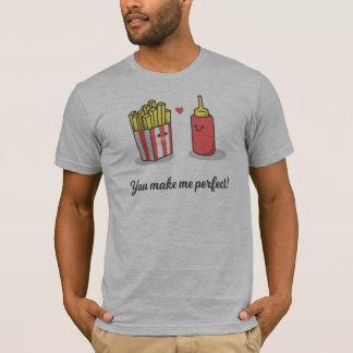 T-shirt Chats romantiques simples dans la chemise de