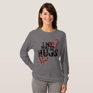 T-shirt Chauffez les étreintes (la longue douille grise)
