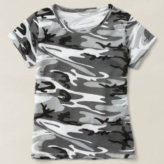 T-shirt Chaussures en toile de camouflage pour femme