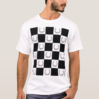 T-shirt checkered de logo de cartel