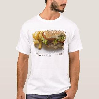 T-shirt Cheeseburger, morsures prises, avec des puces