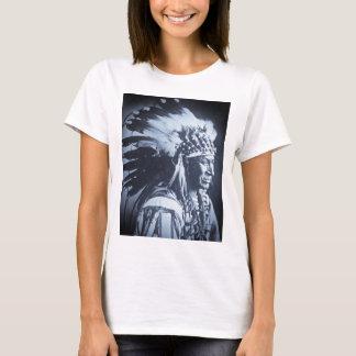T-shirt Chef blanc vintage de cygne de Lakota Sioux