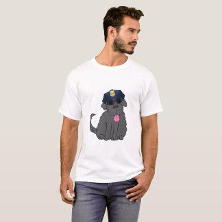 T-shirt Chef de police de chien de Terre-Neuve