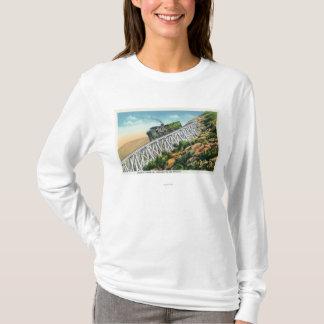 T-shirt Chemin de fer de dent de Mt Washington, l'échelle