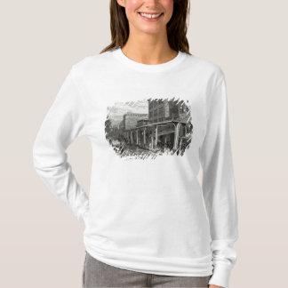 T-shirt Chemin de fer élevé dans la rue de Greenwich, New
