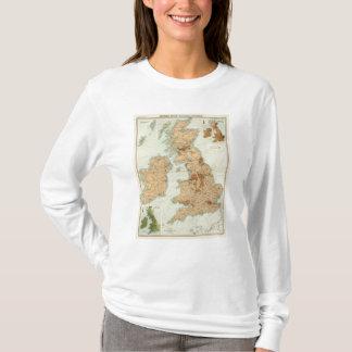 T-shirt Chemins de fer d'îles britanniques et carte