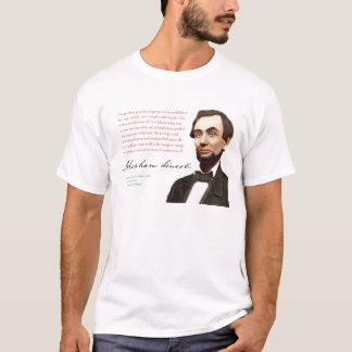 """T-shirt Chemise #16 d'Abraham Lincoln """"un marché libre"""