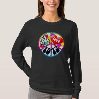 T-shirt Chemise 1973 d'amour de paix