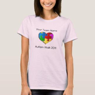 T-shirt Chemise 2011 de promenade d'autisme