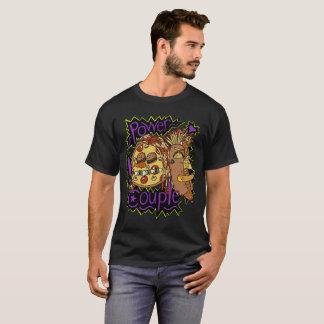 T-shirt Chemise 2 de couleur de couples de puissance