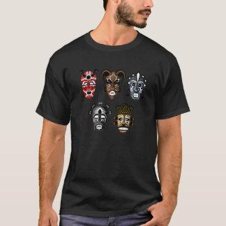 T-shirt Chemise africaine de 5 masques de tribal