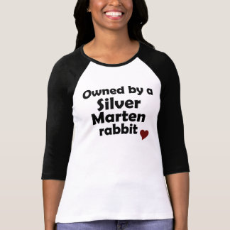 T-shirt Chemise argentée de lapin de martre