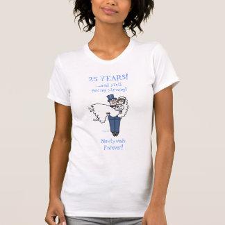 T-shirt Chemise argentée drôle mignonne d'anniversaire de