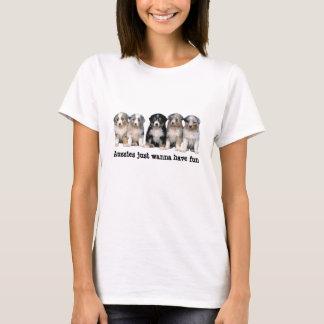 T-shirt Chemise australienne de dames de chiots de berger