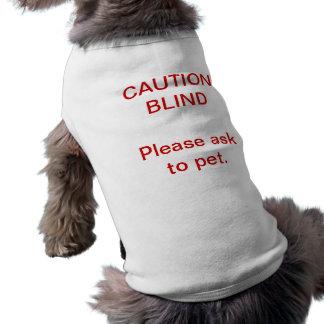 T-shirt Chemise aveugle de chien de précaution