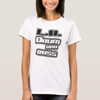 T-shirt Chemise BASSE de DnB de filles du TAMBOUR n de LA