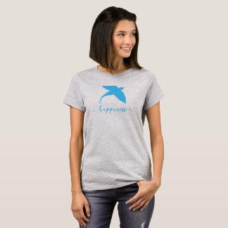 T-shirt Chemise bleue abstraite de conception d'oiseau de