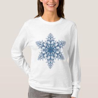 T-shirt Chemise bleue de flocon de neige