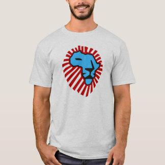 T-shirt Chemise bleue de l'Afrique de lion de crinière