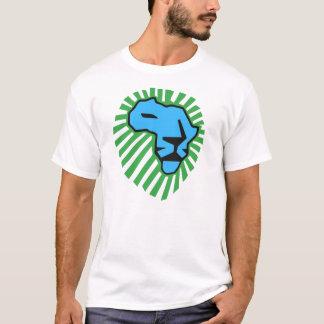 T-shirt Chemise bleue de Waka Waka de crinière de vert de