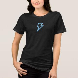 T-shirt Chemise bleue simple d'icône de foudre