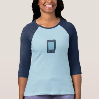 T-shirt Chemise bleue simple d'icône de téléphone