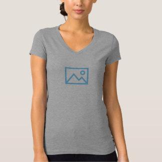 T-shirt Chemise bleue simple d'icône d'image